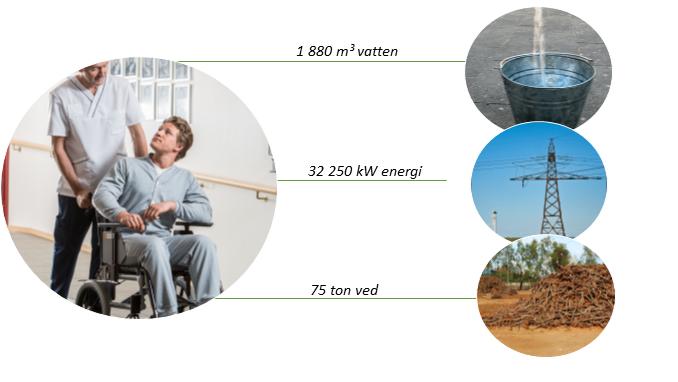 Martinsons totala miljöbesparing på Ecosmart 2016